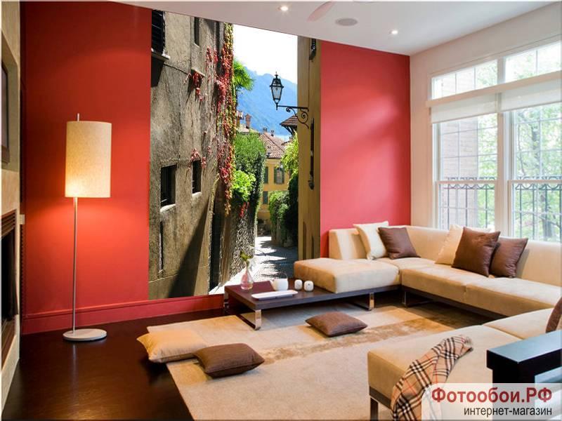 Фотообои в интерьере для спальни: фотообои улочки, улочка Италии, расширяющие пространство, с перспективой, ид на море, Итальянский пейзаж, Италмя