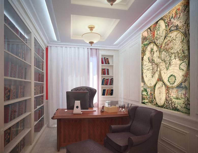 World map, фреска - фотообои в интерьере