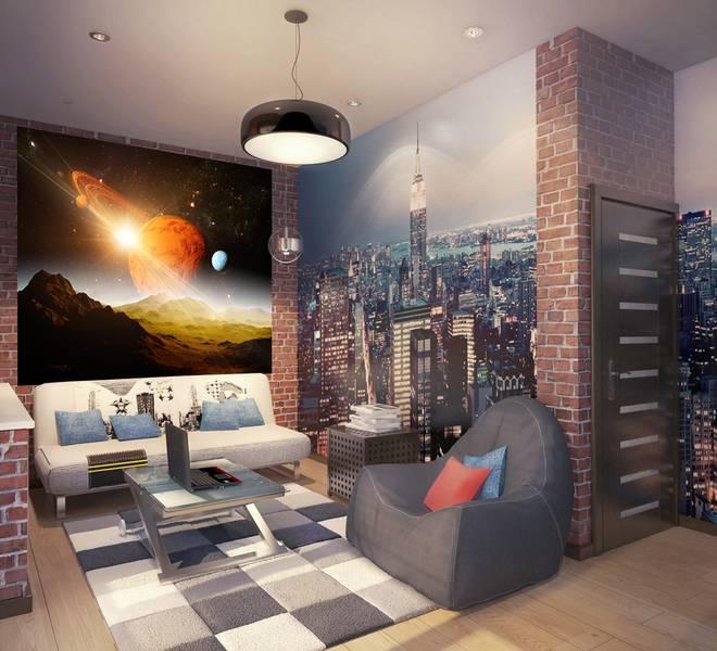 Фотообои в интерьере для спальни: фотообои космос, лунный пейзаж, галактика, звездное небо, в детскую