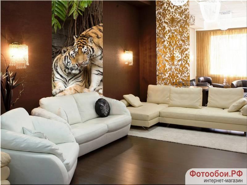 Тигры - фотообои в интерьере