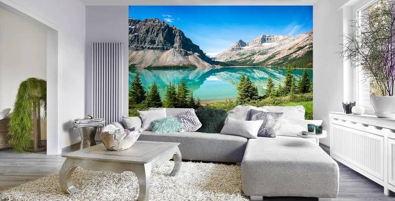 Фотообои в интерьере для спальни: фотообои горное озеро, горы, озера, природа, пейзаж, живописный
