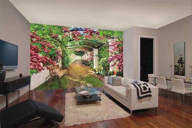 Цветущая галерея - фотообои в интерьере