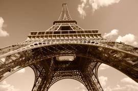 Эйфелева башня, сепия