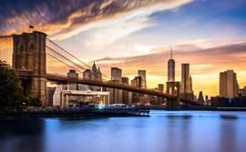 Brooklin Bridge at sunset