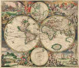 World map, фреска