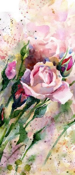 Букет роз, гуашь