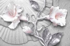 Барильеф, цветы