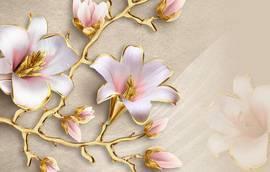 Лилии в золоте