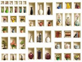 Арт-стена, вазы