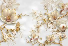 Цветы в золоте